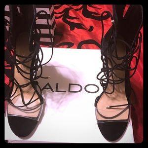 Aldo Somerly black velvet  Heel